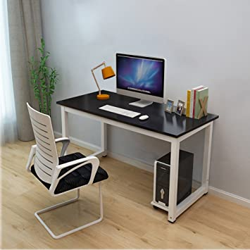 Bon Dripex Modern Simple Style Steel Frame Wooden Home Office Table   Computer  PC Laptop Desk Study