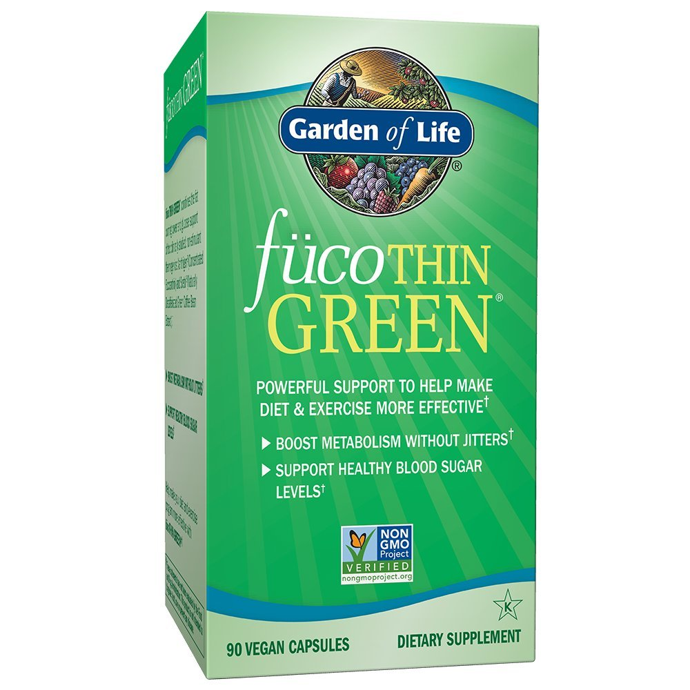 Garden of Life Fucoxanthin Supplements - FucoThin Green Diet Pill for Weight Loss with Green Coffee Bean Extract, 90 Capsules by Garden of Life