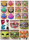 100 Pc Mix Lot Assorted Halloween party Mask-woman man Mask -Face Mask -Halloween Mask - Table Setting -Wall Deco -Halloween party