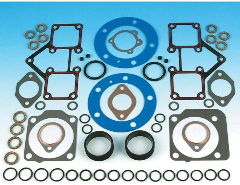 One Size James Gasket Top End Gasket Kit with Firering Head Gaskets for Harley Davidson