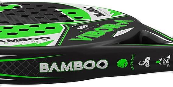 VIBORA-A Padel Bamboo Pala, Unisex Adulto, Verde, Talla Única ...