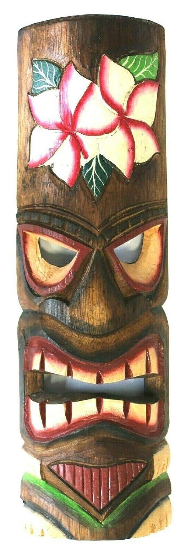 Wohnkult Tiki Wandmaske 50 cm Hawaii Maske aus Holz Wandbrett Wandschild S/üdsee