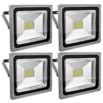 Leetop 4X 80W SMD LED Foco Proyector Focos LED Exterior Luz de ...