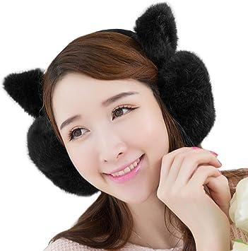 Ladies Girls Faux Fur Animal Ear Warmer Muffs Winter Earmuffs Fashion Headbands