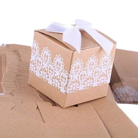 Amazon.com: losuya 50pcs rústico Candy Cajas bolsas de ...