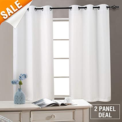 kitchen curtain panels modern kitchen white kitchen curtains for living room window 54 inch length waffle woven textured curtain panels amazoncom