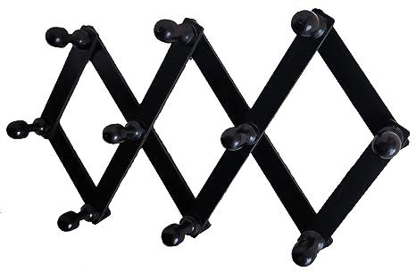 Amazon.com: Perchero de pared con 10 clavijas de madera ...