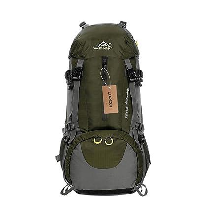 ede85d1cd Lixada Mochila de Senderismo 50L con Cubierta Impermeable Mochila de Marcha  Trekking Camping Deporte al Aire