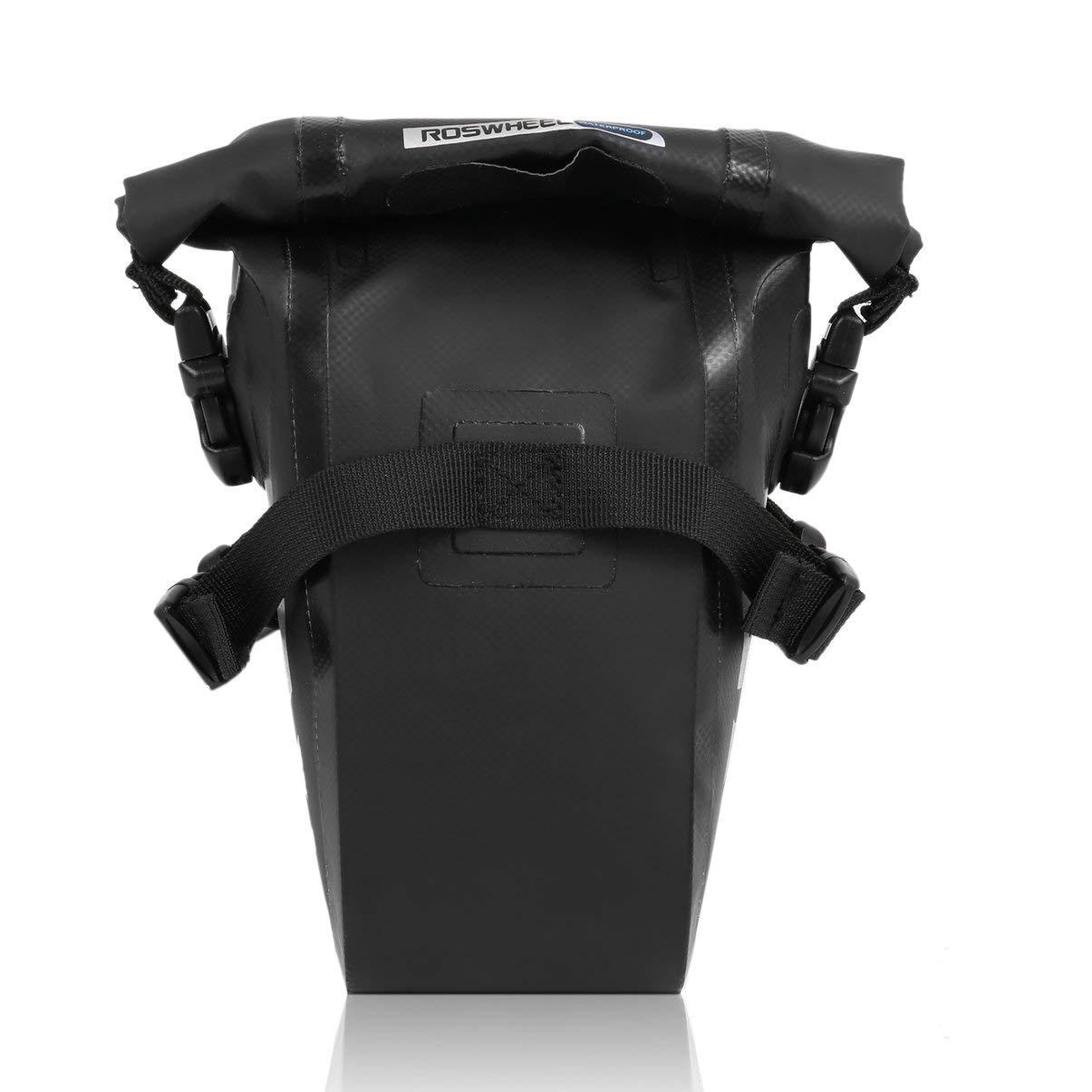 JullyeleESgant ROSWHEEL Dry Series Full Waterproof Bike Bicycle Cycling Bag Full Waterproof PVC Accessories Rear Tail Saddle Bag