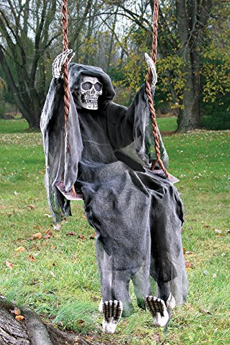 Fun World Unisex-Adult's Swinging Reaper, Multi, Standard -