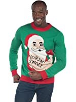 Tipsy Elves Men's North Swole Santa Sweater - Funny Workout Ugly Christmas Sweater