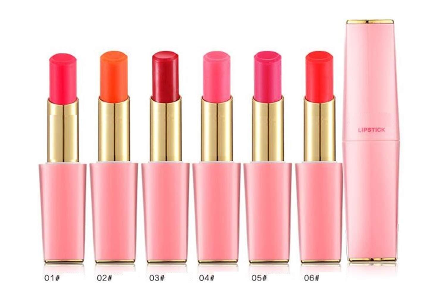Ari_Mao Fashion Waterproof Lip Stick Cosmetics Makeup Antiaderente Cup Lipstick Lip Gloss (Colore : 01#)