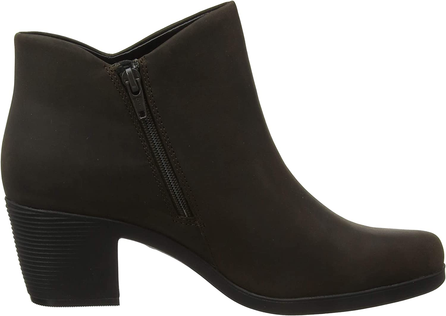 Clarks Un Lindel Zip, Botines para Mujer Marrón Brown Oily Brown Oily
