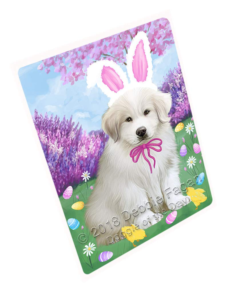 Doggie of the Day Easter Holiday Great Pyrenee Dog Blanket BLNKT131835 (60x80 Woven)