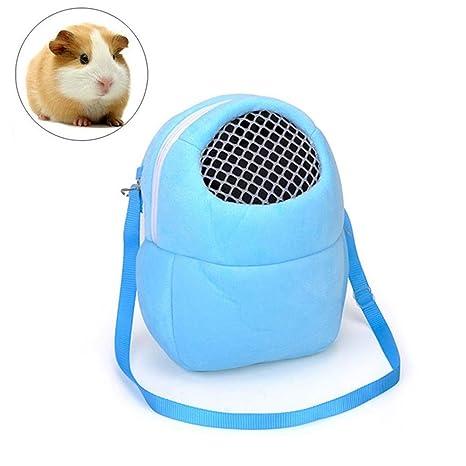 Aolvo Hamster Bolsa de viaje, creativa mochila de erizo para exteriores, mochila de conejo, hámster, saco de dormir ...