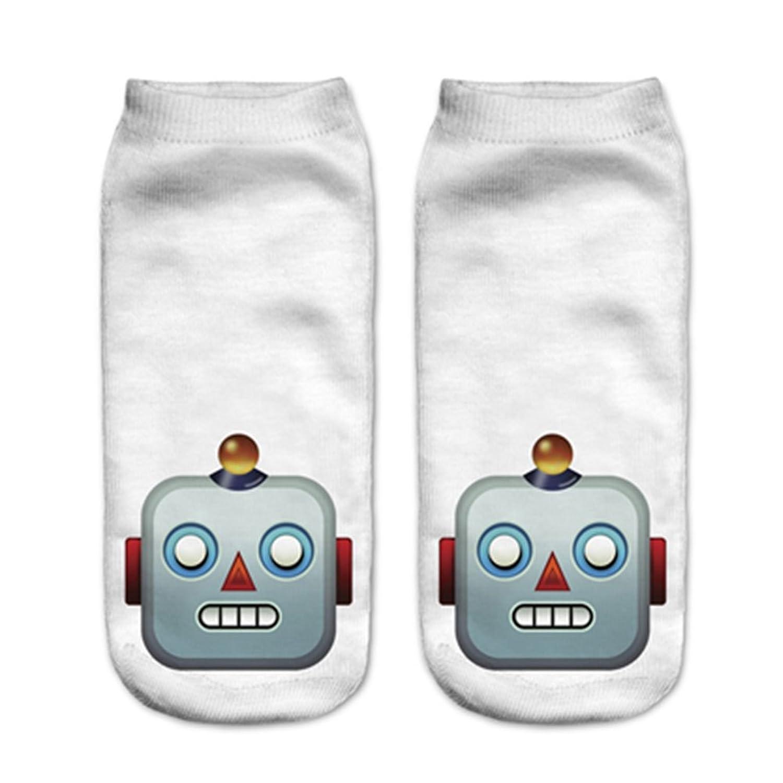 Doxi 3D Cartoon Unisex Low Cut Ankle Socks Harajuku Style Free Size