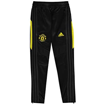 Amazon Com Adidas 2019 2020 Man Utd Training Pants Black
