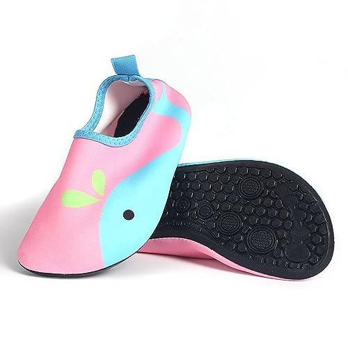 Beito Zapatos Ligeros para Niños Calcetines de Secado Rápido para Piscina Playa 1 par de Ballena