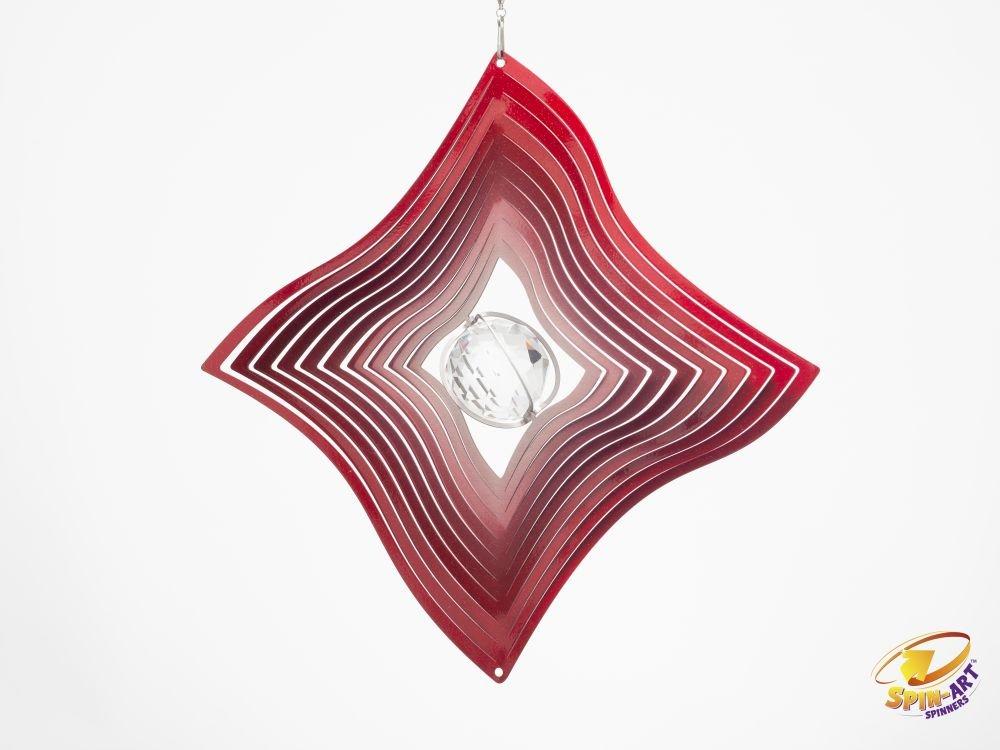 acquista online Spin Art designer diamante con sfera di cristallo trasparente trasparente trasparente girandola a vento  migliori prezzi e stili più freschi