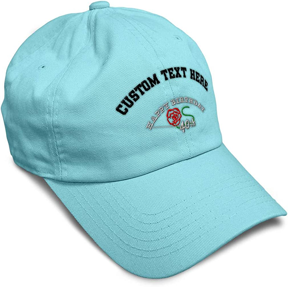 Custom Soft Baseball Cap 40Th Happy Birthday Embroidery Dad Hats for Men /& Women