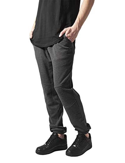 Urban Classics Deep Crotch Terry Biker Sweatpants, Pantalon Homme, Gris  (Charcoal 91) e9acc08d42f7