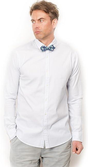 Scotch & Soda Camisa Camiseta con Pajarita Azul M: Amazon.es: Ropa y accesorios