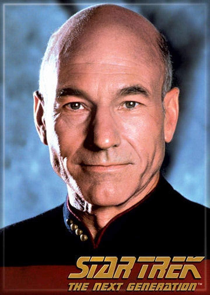 "Ata-Boy Star Trek The Next Generation Captain Picard 2.5"" x 3.5"" Magnet for Refrigerators and Lockers"