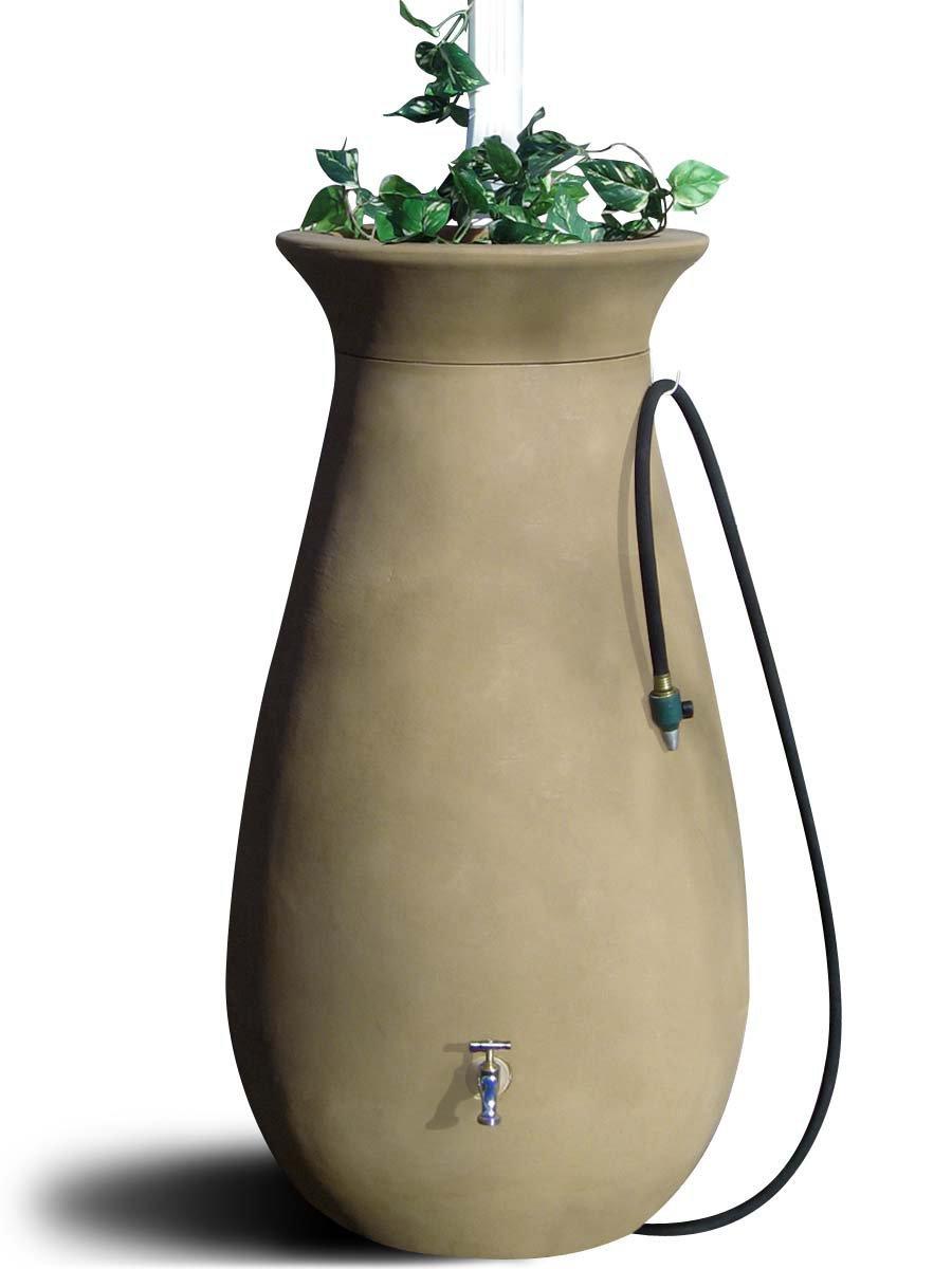 Algreen Products Cascata Rain Barrel 65-Gallon, Sandalwood by Algreen