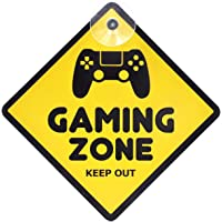 Gaming in Progress Room Door Sign Yellow Acrylic for Boys, Girls, Bedrooms, Computer Games, Console, Gamer