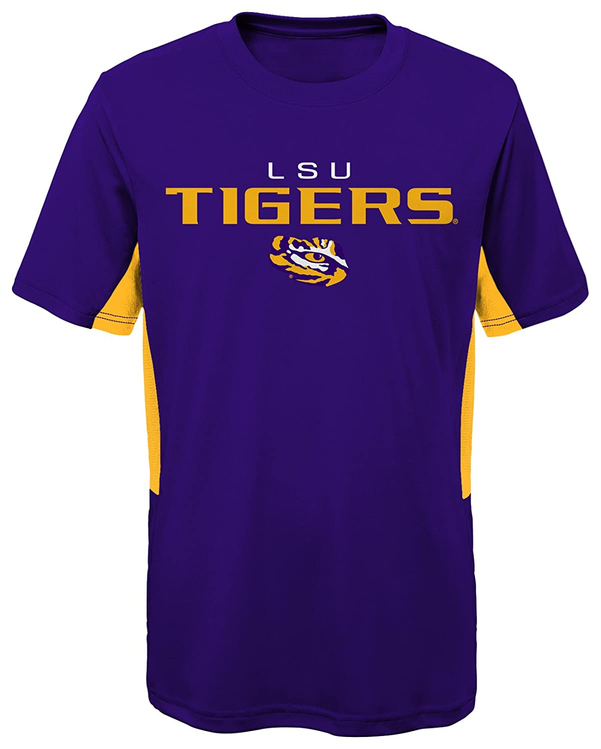 18 Youth X-Large Regal Purple NCAA by Outerstuff NCAA Lsu Tigers Youth Boys Mainframe: Short Sleeve Performance Top