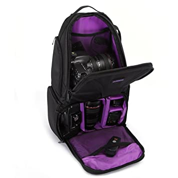Professional Camera Case Sling Backpack for Nikon Canon Sony and Other DSLR  Cameras and Lens Tripod d121f1d257dc5