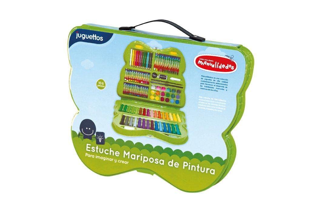 Manualidedos Estuche Mariposa de Pintura 106 piezas: Amazon ...