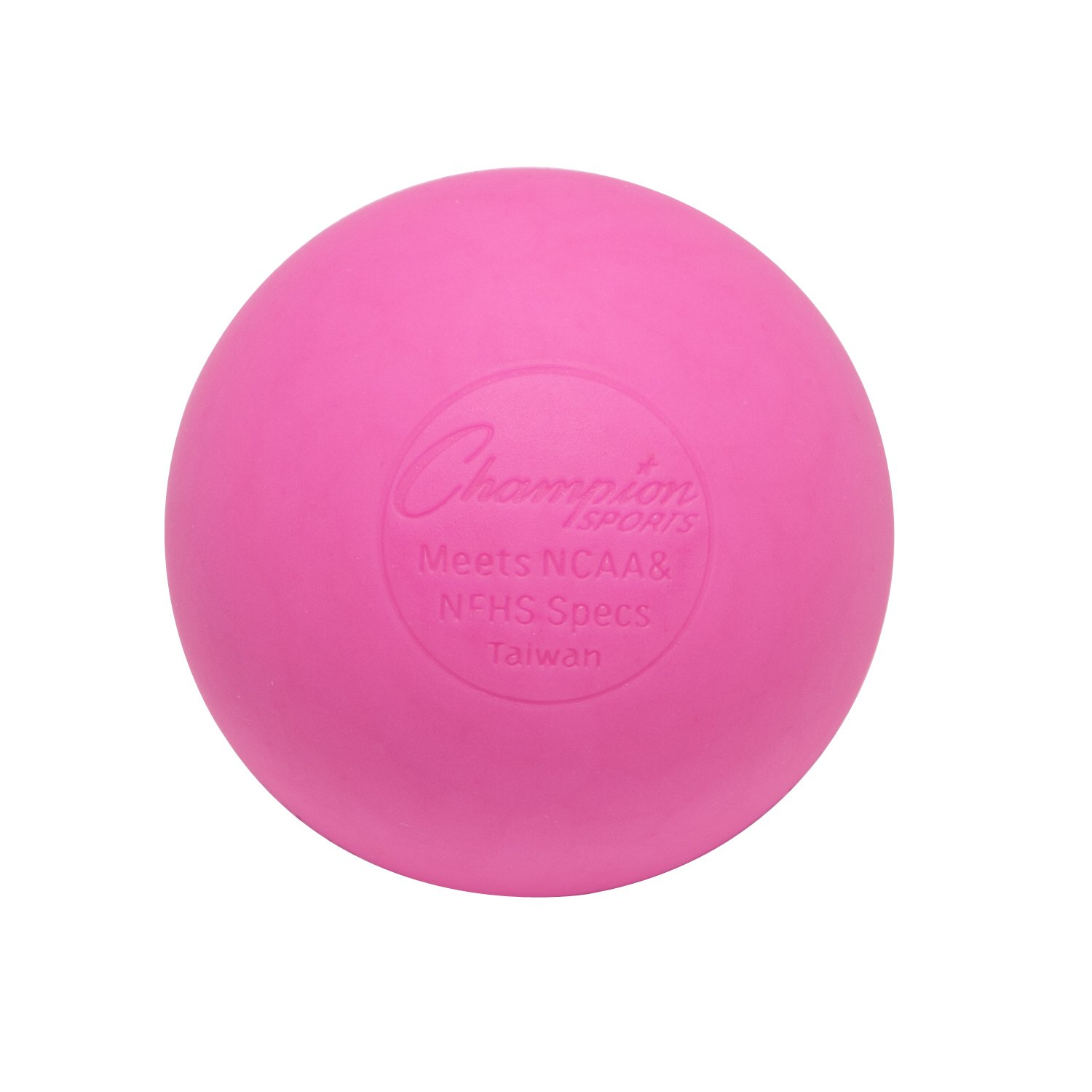 Champion Sports Colored Lacrosse Balls: Pink Official Size for Professional, College & Grade School Games - NCAA, NFHS, Certified - Multi Count Packs