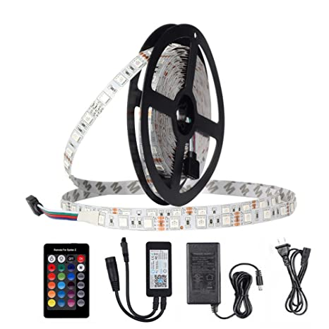 LED Strip Light with WiFi Wireless Smartphone App Control, 16.4ft 300LEDs 5050RGB Flexible Light