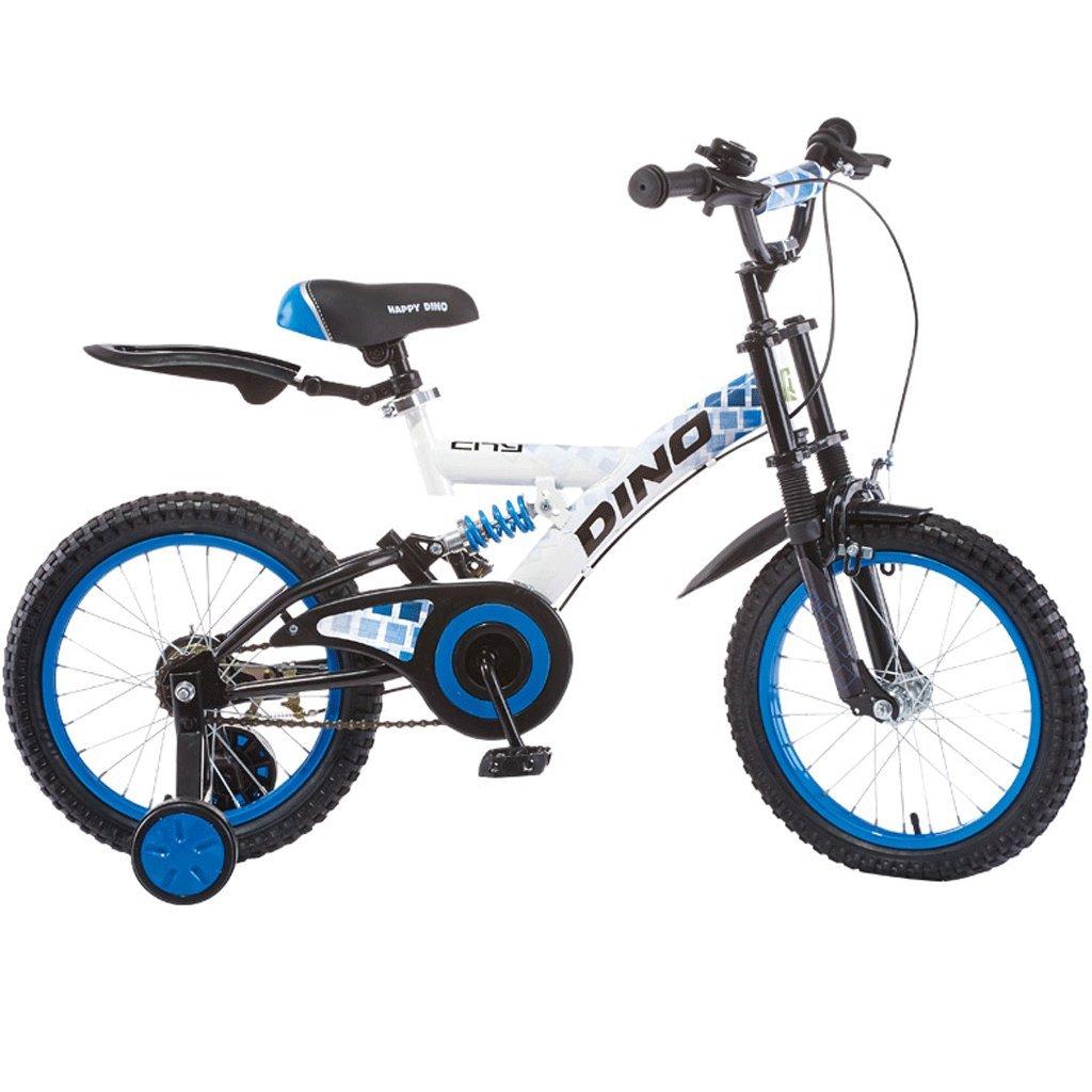 子供のマウンテンバイク18インチの4-13歳のベビーベビーカーの少女ショックバイク (色 : 青) B07D77YCPM青