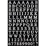 JAM Paper Self Adhesive Alphabet Letters Stickers - Silver - 2/pack