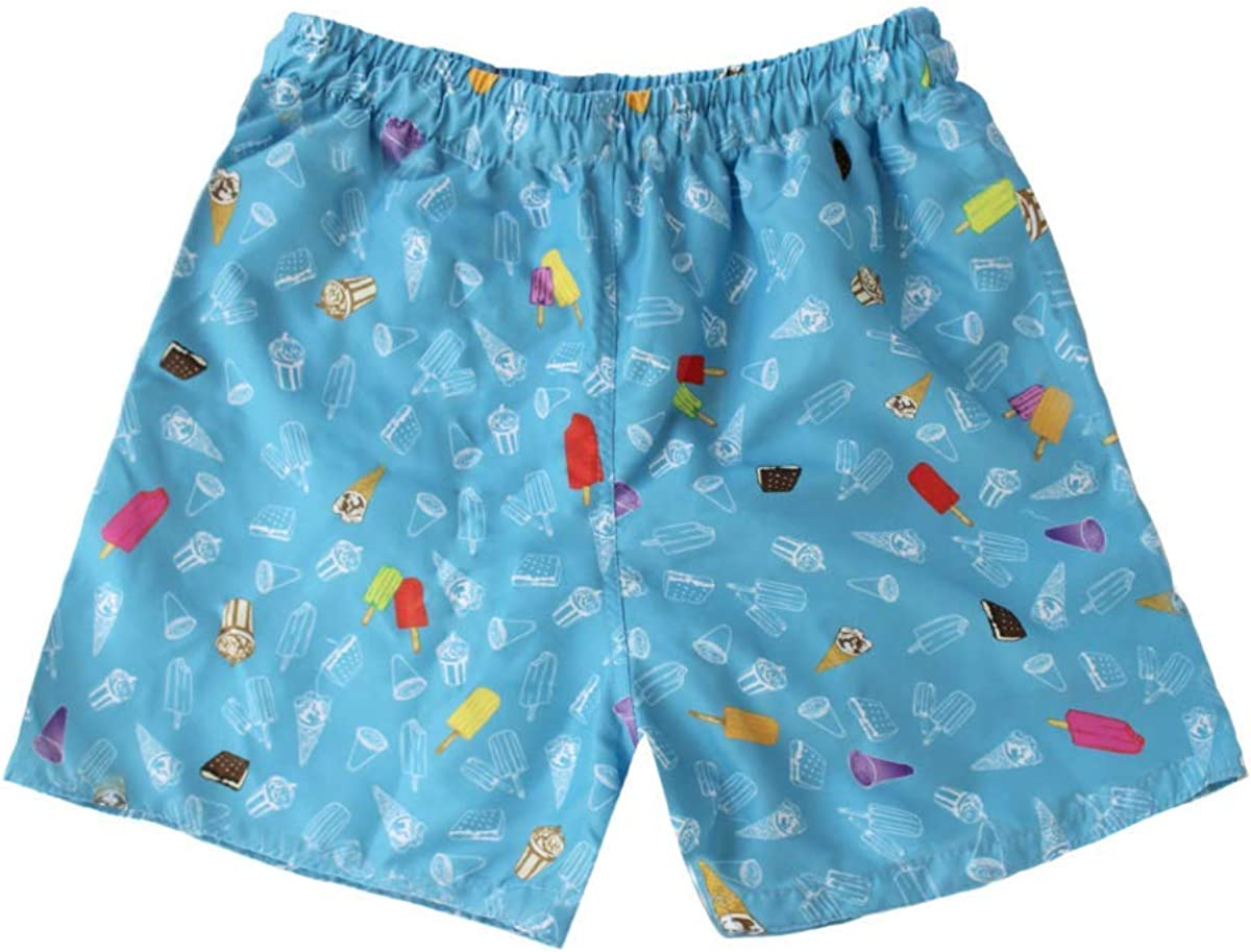 Candy Printed Trunk Swim Shorts for Little Boys Big Kids Subibaja Swimsuit Ice Cream