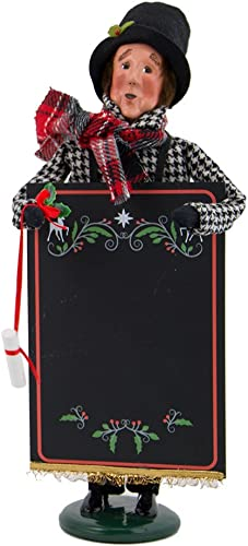 Byers Choice Chalkboard Man Caroler Figurine 4827 from The Specialty Characters Collection