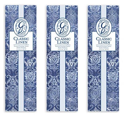 3 x Greenleaf Classic Linen Slim Sachets
