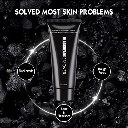 Vassoul Blackhead Remover Mask, Purifying Peel-off Mask with Activated Charcoal, Deep Pore Cleanse for Acne