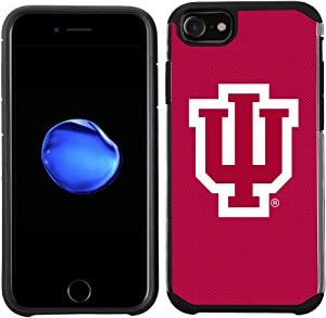 Prime Brands Group Textured Team Color Cell Phone Case for Apple iPhone 8/7/6S/6 - NCAA Licensed Indiana University Hoosiers (NCAA-TX1-i8-IN)