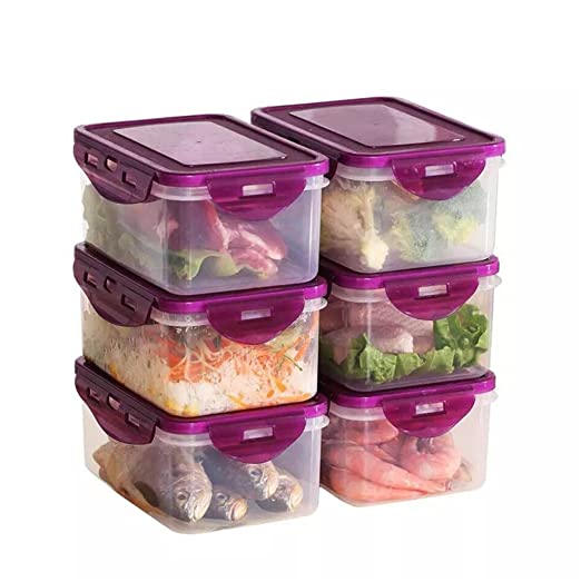 Wly&Home - Recipiente hermético para Alimentos, 6 Piezas, sin BPA ...