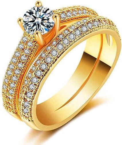 Amazon Com Binory Couples Diamond Studded Rings Enhancers Wedding