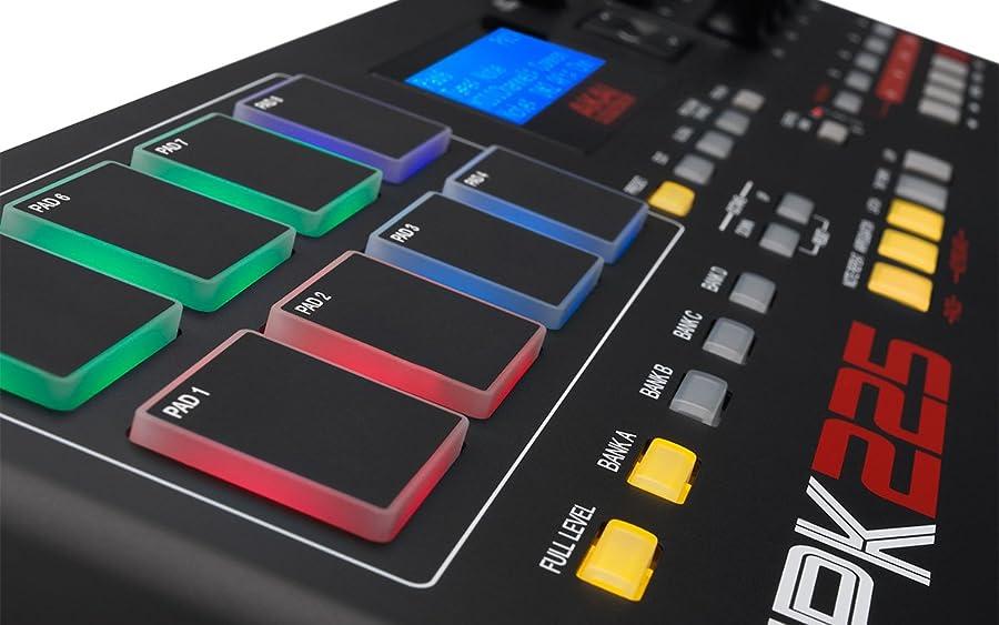 AKAI MPK225 MIDI keyboard Pads