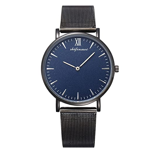 Kinlene reloj mujer barato de moda,reloj de mujer de cuarzo relojes (Azul)
