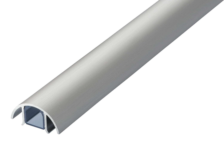 MINI ALUMINIUM KABELKANAL IN EDELSTAHL GEBÜ RSTET STYLE (Lä nge: 100cm) ALUNOVO kabelkanal manufaktur