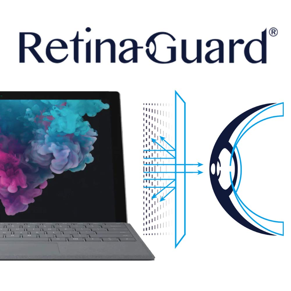 RetinaGuard Anti-UV, Anti-Blue Light Screen Protector for Surface Pro6 SGS & Intertek Tested - Blocks Excessive Harmful Blue Light, Reduce Eye Fatigue and Eye Strain