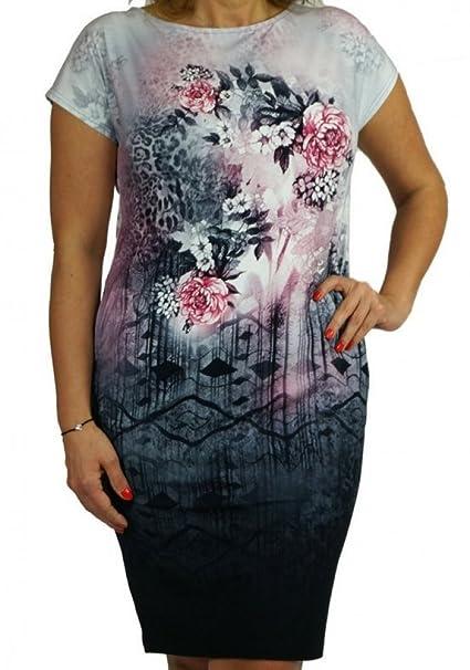 Berry Kleid Mit Animal Print Und Kurzmarm Gr 40 54 Etuikleid