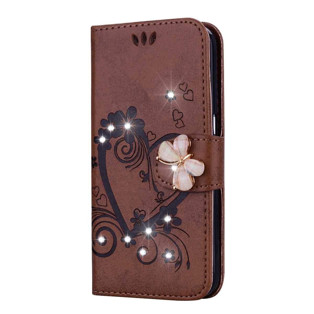 Bear Village Case Compatible with Samsung Galaxy A5 2016, Leather Full Body Protective Cover with Credit Card Slot, Magnetic Closure and Kickstand Function, Brown by Bear Village