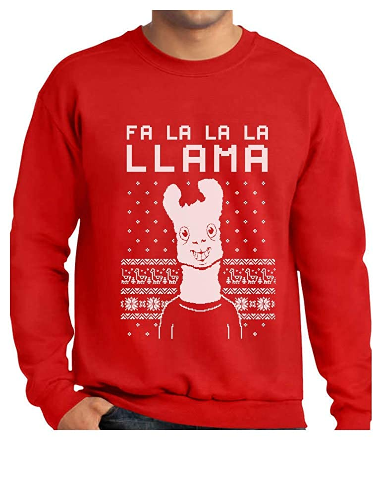 FA La La Llama Ugly Christmas Sweater Funny Xmas Sweatshirt GM0Zatgf